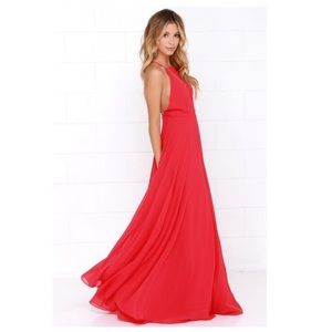 Lulu's Mythical Kind of Love Red Maxi Dress